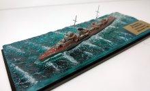 Эсминец Гневный в море (готовая модель под колпаком) модель в масштабе 1:1200