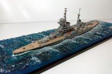 Крейсер Михаил Кутузов в море (готовая модель под колпаком) модель в масштабе 1:1200